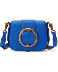 6e3c8915ca Polo Ralph Lauren - Klein Blue Cowhide Leather Mini Crossbody Bag - Lyst