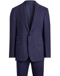 Ralph Lauren Purple Label Gregory Handmade Wool Suit - Blue