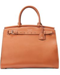 Ralph Lauren - Rl50 Large Leather Handbag - Silver Hardware - Lyst