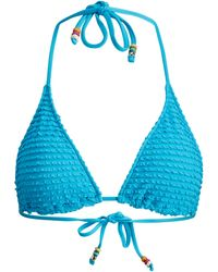 Polo Ralph Lauren Ruffled Triangle Bikini Top - Blue