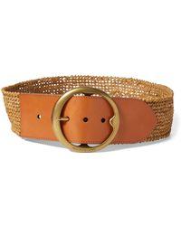 Lyst - Polo Ralph Lauren Nappa Leather Skinny Belt 51783ea9bc