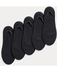 Ralph Lauren Cinque paia di fantasmini in maglia - Nero