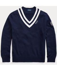 Ralph Lauren Cricket-Pullover Wimbledon - Blau