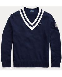 Ralph Lauren Maglia da cricket Wimbledon - Blu