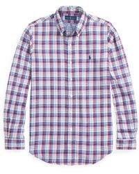 fb63632adfa2 Polo Ralph Lauren Slim Fit Garment Dyed Oxford Cotton Shirt in Red ...