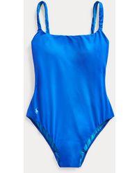 Polo Ralph Lauren Bañador Moderno De Una Sola Pieza - Azul