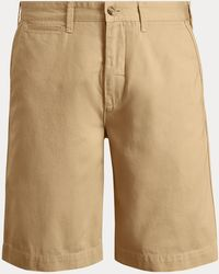 Ralph Lauren Classic Fit Cotton Chino Shorts - Natural
