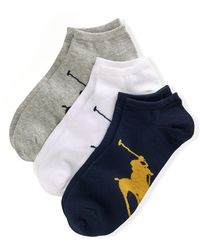Polo Ralph Lauren 3 paires de chaussettes Big Pony - Bleu