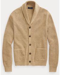 Polo Ralph Lauren Cotton Shawl-collar Cardigan - Natural