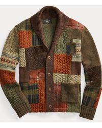 RRL Cardigan patchwork laine mélangée - Multicolore