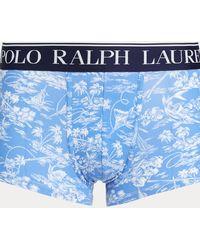 Polo Ralph Lauren Slip-boxer en coton stretch - Bleu