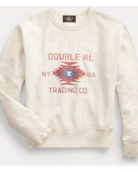 RRL Logo Fleece Sweatshirt - Natural