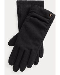 Ralph Lauren Ruched Wool-blend Tech Gloves - Black