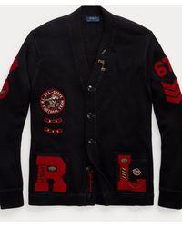 Polo Ralph Lauren College-Cardigan aus Baumwolle - Schwarz
