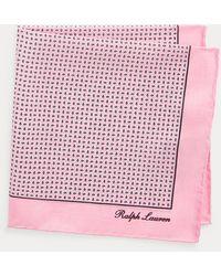 Ralph Lauren Purple Label - Neat Silk Pocket Square - Lyst