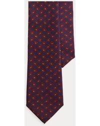 Polo Ralph Lauren Cravate étroite Pine challis laine - Bleu