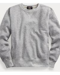 RRL Fleece Crewneck Sweatshirt - Grey