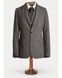 RRL Checked Wool Suit Jacket - Black