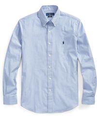 Pink Pony Striped Poplin Shirt - Blue
