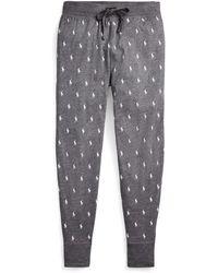 Polo Ralph Lauren Pantalon de jogging coton à poneys - Gris