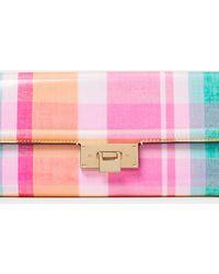 Ralph Lauren Calfskin Hinge-lock Wallet - Pink