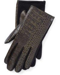 Ralph Lauren - Embossed Leather Tech Gloves - Lyst