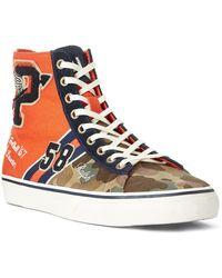 For Men Ralph Lauren High In Top Blue Lyst Suede Gaven Polo Sneaker m8vON0wynP