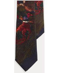 Polo Ralph Lauren Cravate étroite faisan en laine - Bleu