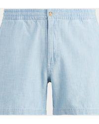 Polo Ralph Lauren Short prepster Polo chambray - Bleu