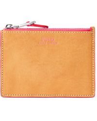 Polo Ralph Lauren Leather Zip Card Case - Pink