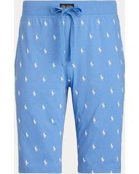 Polo Ralph Lauren Pantalón Corto De Pijama Con Caballo - Azul