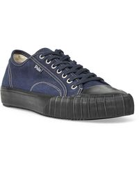 Ralph Men Calfskin Sneaker Lyst Lauren Blue For Polo Jermain In 5TlK1Jc3uF