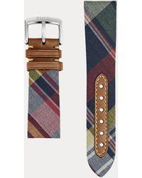Polo Ralph Lauren Madras Tie Silk Watch Strap - Multicolour