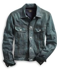 RRL - Indigo Leather Jacket - Lyst