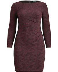 Ralph Lauren - Jacquard Long-sleeve Dress - Lyst