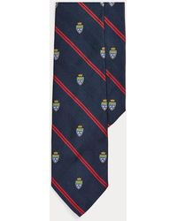 Polo Ralph Lauren Striped Silk Club Tie - Blue