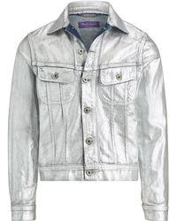 Ralph Lauren Purple Label - Foil Denim Trucker Jacket - Lyst