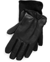 Polo Ralph Lauren Hybrid-Handschuhe aus Nappaleder - Schwarz