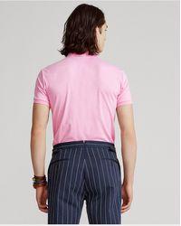 Polo Ralph Lauren Polo Slim Fit De Algodón Suave - Rosa