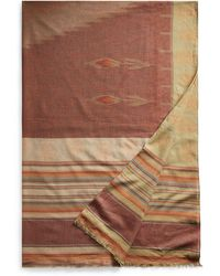Ralph Lauren Cotton Jacquard Wrap Scarf - Brown