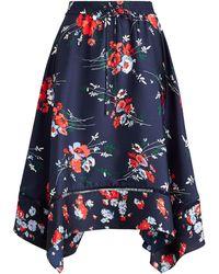 Lauren by Ralph Lauren - Twill Handkerchief Skirt - Lyst