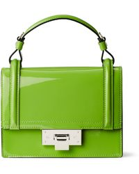 Ralph Lauren Mini Patent Hinge-lock Bag - Green