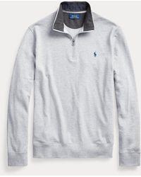 Polo Ralph Lauren Pullover aus Baumwollpiqué - Grau