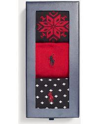 Polo Ralph Lauren Set De Calcetines Con Diseño Fair Isle - Rojo