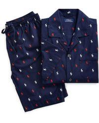 Polo Ralph Lauren Kurzer Pyjama aus Baumwolle - Blau