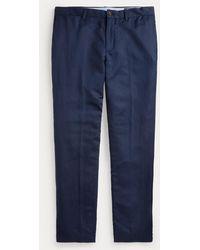 Polo Ralph Lauren - Pantalon droit lin mélangé - Lyst