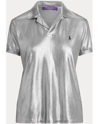 Ralph Lauren - Polo in seta laccata - Lyst