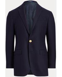 Polo Ralph Lauren Blazer Polo en laine chamoisée - Bleu