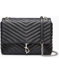 Rebecca Minkoff Edie Flap Shoulder Bag Black