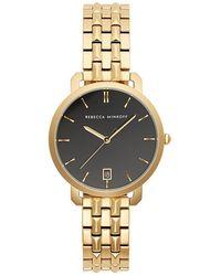 Rebecca Minkoff - Billie Gold Tone Bracelet Watch, 34mm - Lyst
